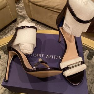 Stuart Weitzman sandals w/ Adjustable ankle strap